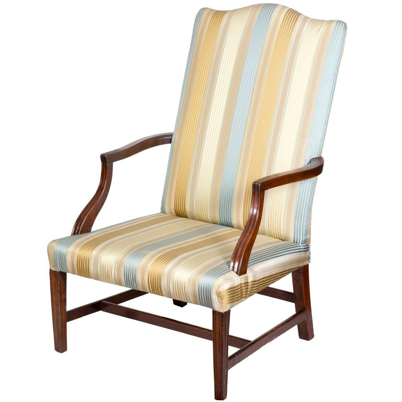 Wonderful Mahogany Federal Lolling Chair, Boston Or North Shore, Circa 1800 1810 1