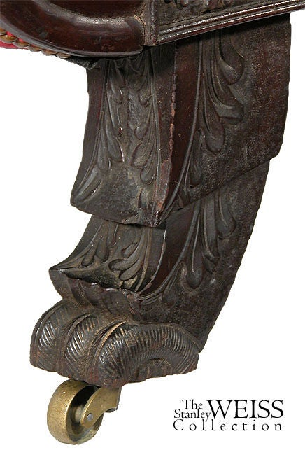 Rare Carved Classical Sofa with Chinese Chippendale Feet, Salem image 4
