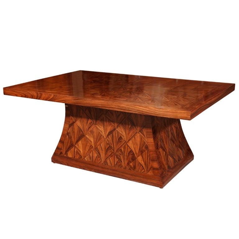 Art Deco Style Walnut Coffee Table At 1stdibs