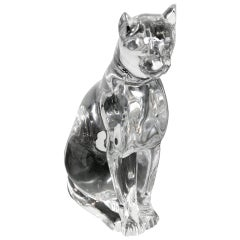 Baccarat Crystal Egyptian Cat