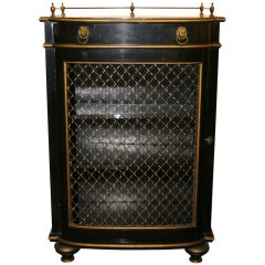 Ebonised Wood Cabinet With Gilded Details