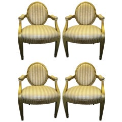 Set of Four Donghia Grande Flute Chairs