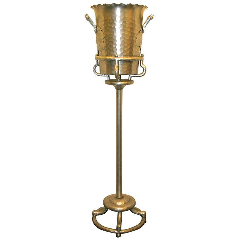 Champagne Bucket On Stand At 1stdibs