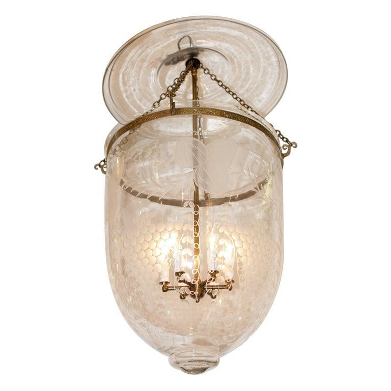 Jumbo Size Bell Jar Lantern Chandelier With Grape