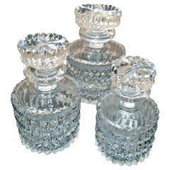 Set of Three Small Crystal Decanters