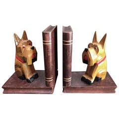 Pair of West Highland Terrier Book Ends