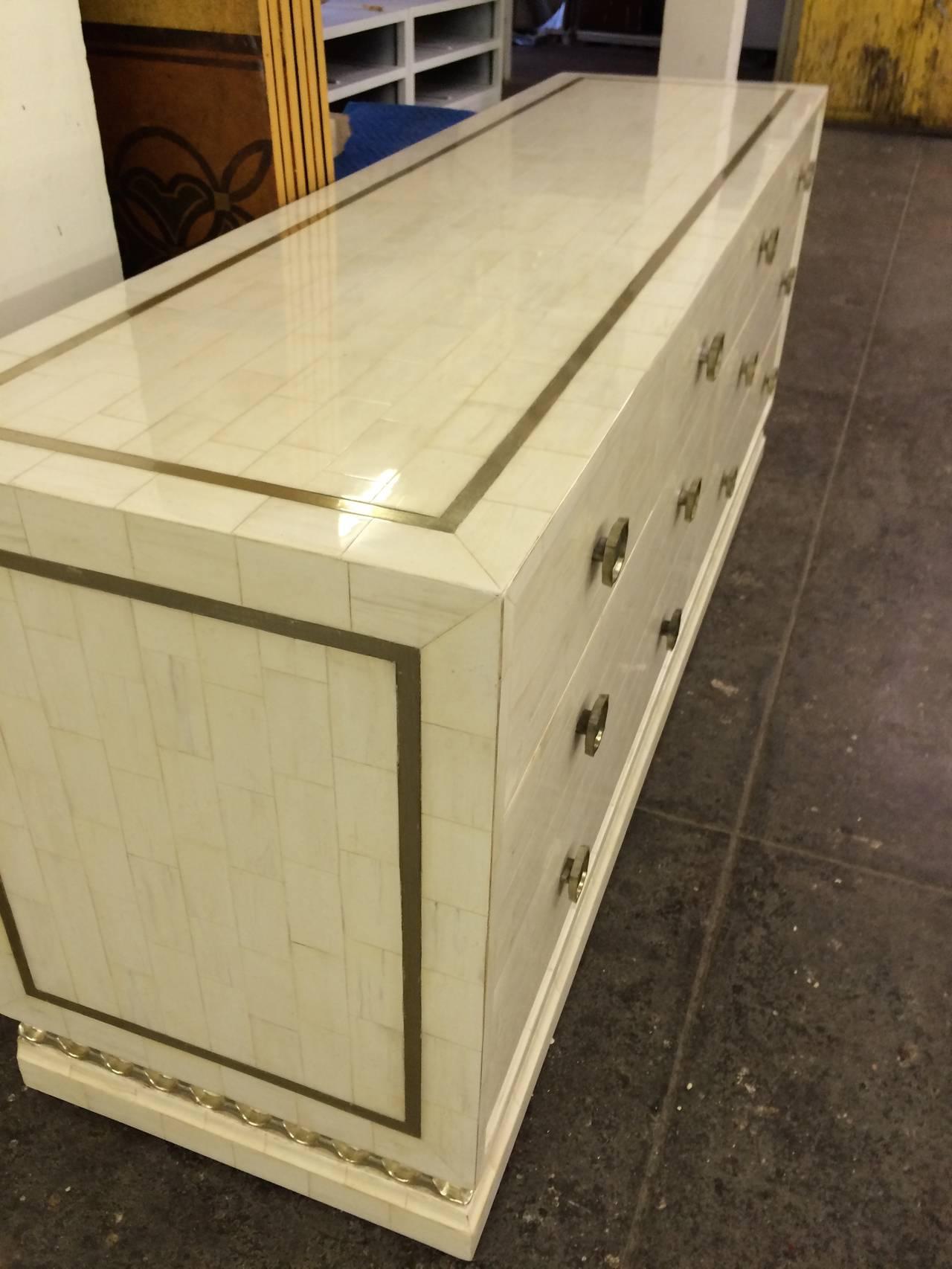 Gold Leaf Dresser Ivory And White Gold Leaf