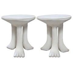 Pair of John Dickinson African Tables
