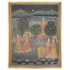 Indian Painting with Gold leaf frame