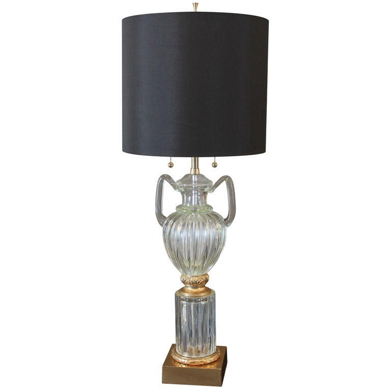 Murano Seguso Marbro Urn Lamp