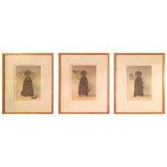 Rare William Wegman - Three Framed Dog Photo/Illustrations