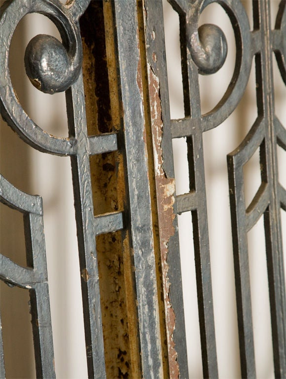 Monumental 11 5 Tall Cast Iron Art Nouveau Gates Panels