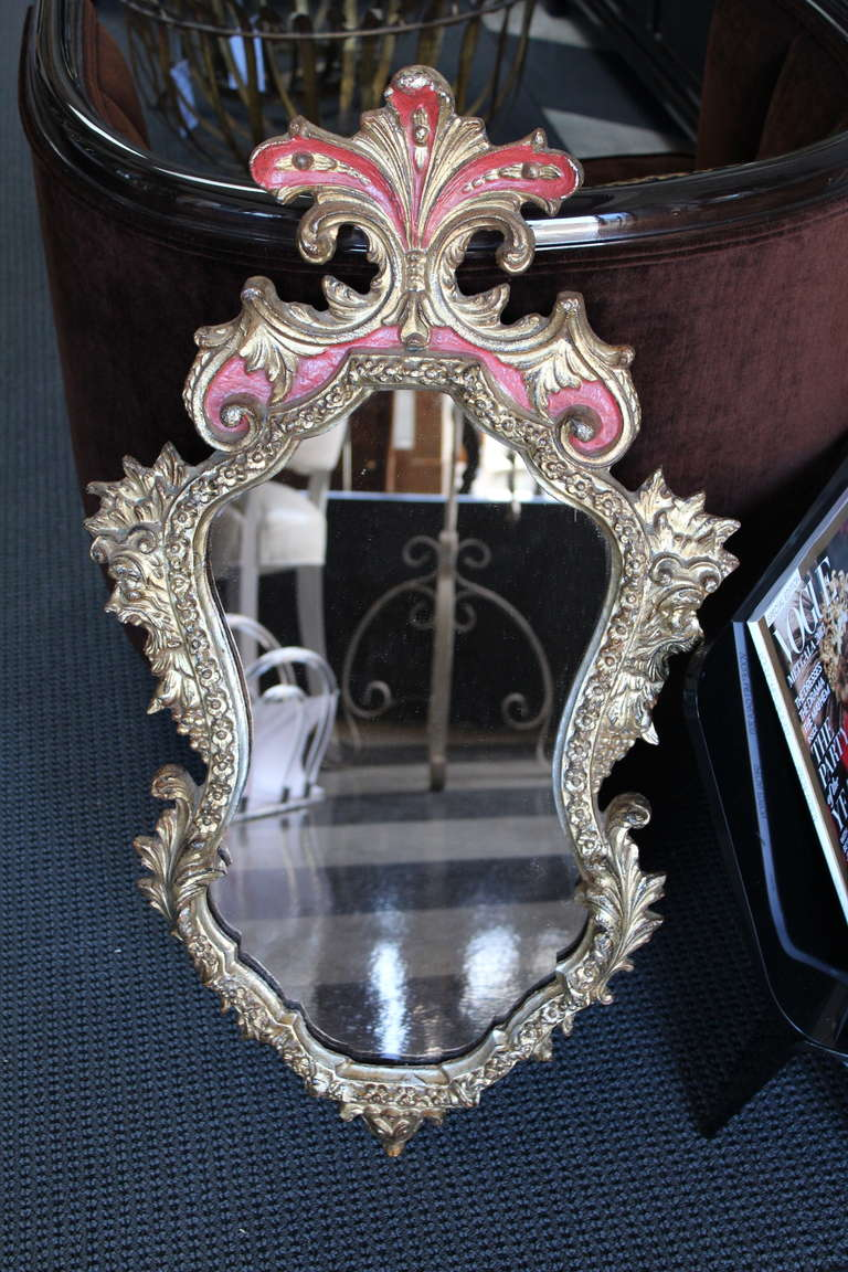 Rococo style gilt shaped frame mirror for sale at 1stdibs for Rococo style frame