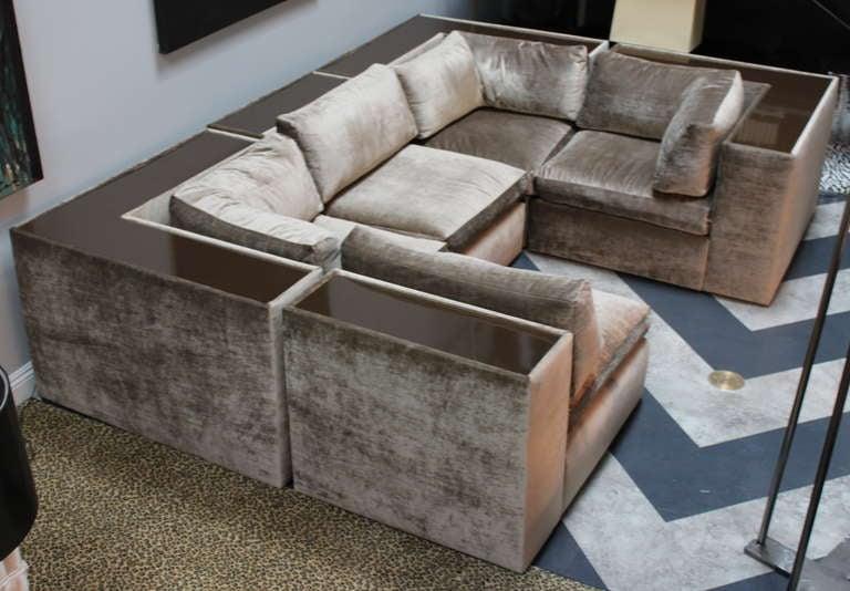 mid century modern milo baughman for thayer coggin sectional sofa