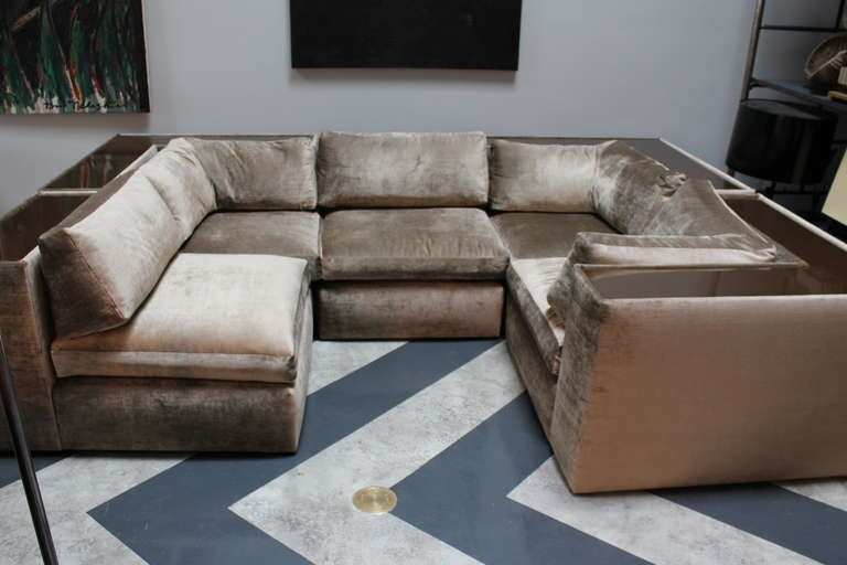Unknown Vintage Mid century modern Milo Baughman for Thayer Coggin sectional sofa
