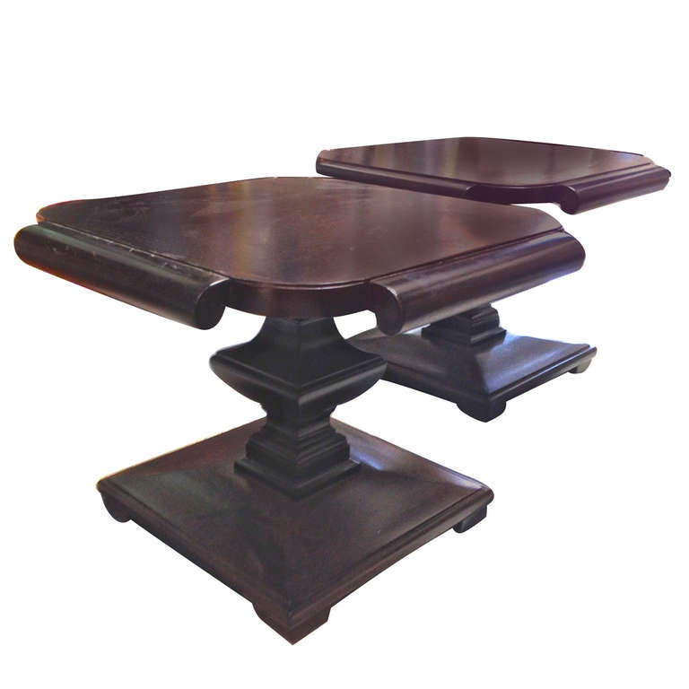 Mid Century Danish Modern Small Scale Drawer Coffee Table: Pair Of Mid Century Modern Walnut Coffee Tables At 1stdibs