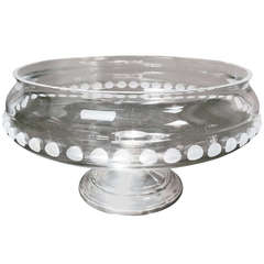 Crystal Fruit Bowl with Sterling Silver Base