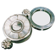 Mother-of-pearl and Silver Magnifying Glass