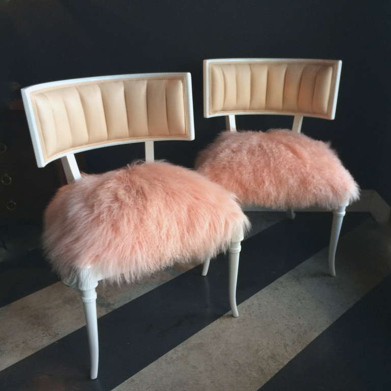 Pair Of Very Glam Newly Restored Grosfeld House Chairs 2