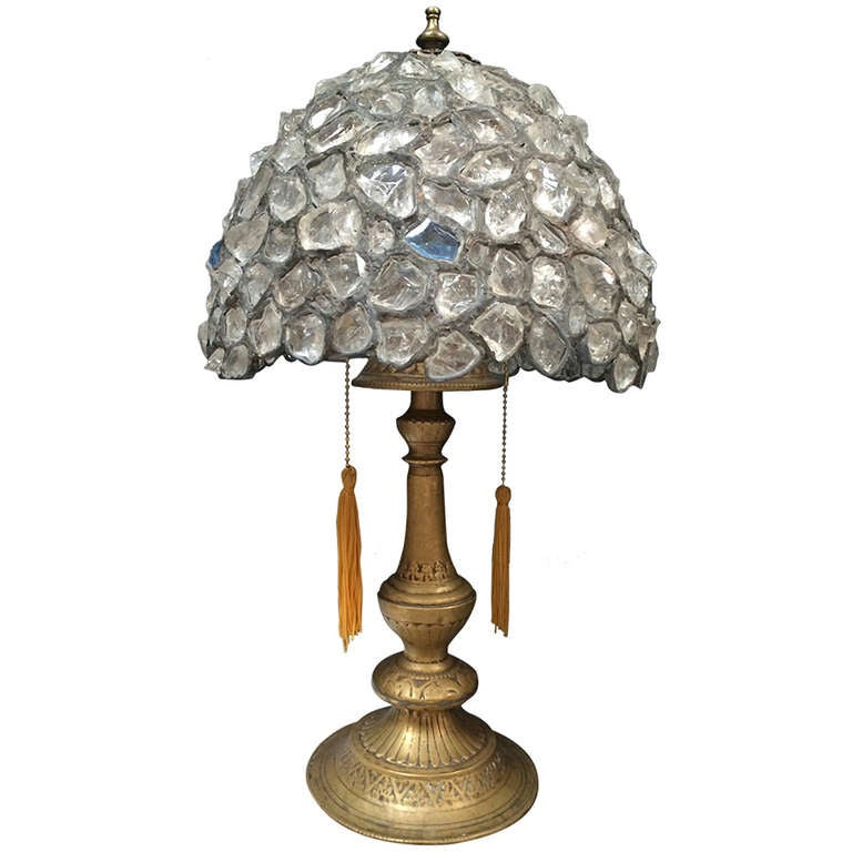Rock crystal table lamp best inspiration for table lamp for Rock lamp