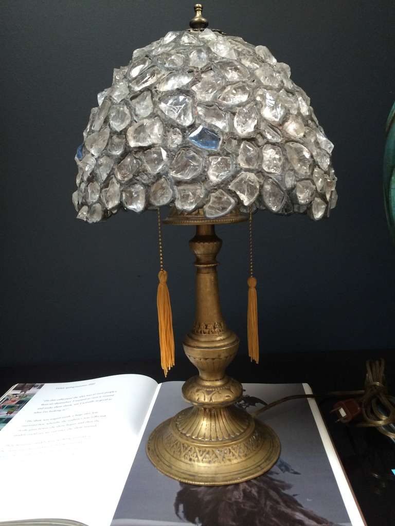 Rock crystal table lamp at 1stdibs for Rock lamp