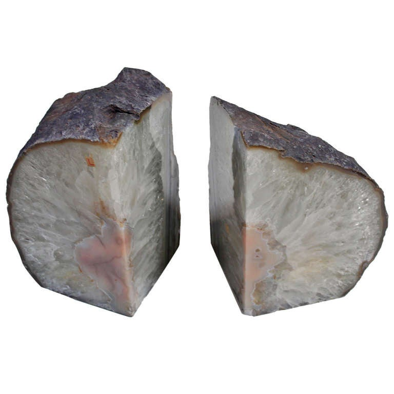Pair of quartz geode book ends at 1stdibs - Geode bookends ...