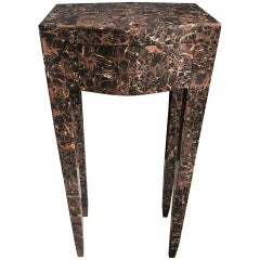 Maitland Smith Tessellated Marble Table with Drawer