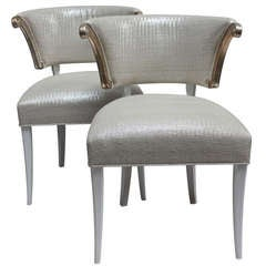 Pair of Grosfeld House Klismos Chairs
