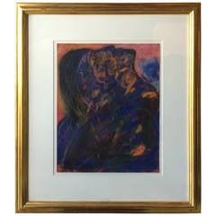 Jamali Original Pastel in 22-Karat Gold Frame