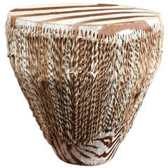 Zebra Skin Drum or Table