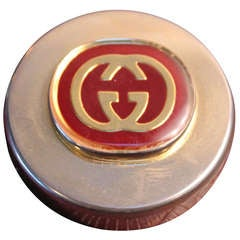 Vintage Gucci Brass Paper Weight