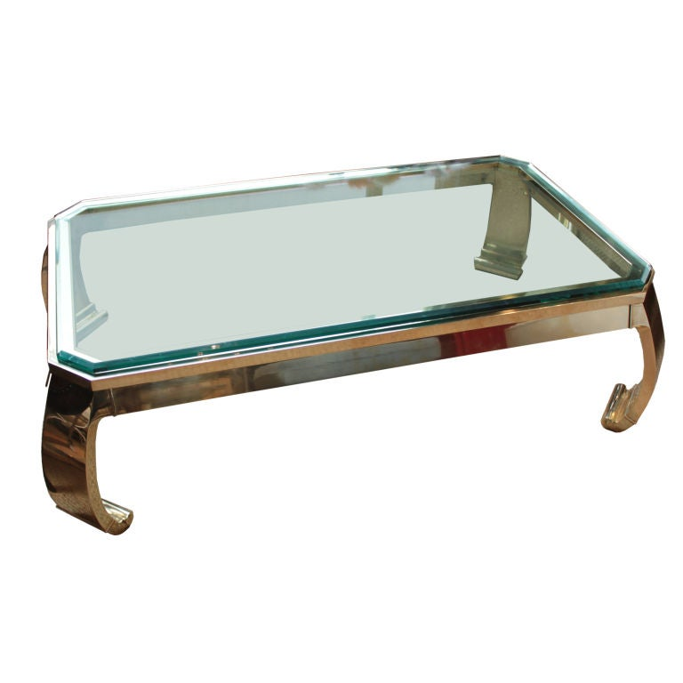 Solid Brass Italian Chow Style Coffee Table At 1stdibs