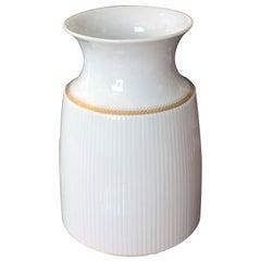 Rosenthal Porcelain Vase with Gold Band