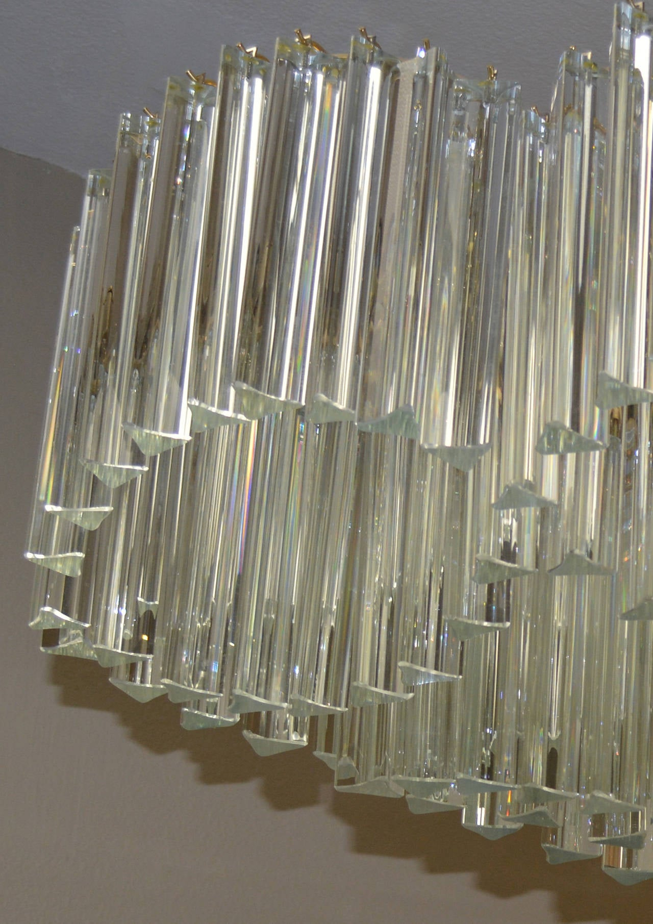 Sculptural Mid-Century Murano Crystal Chandelier by Camer In Good Condition For Sale In Palm Springs, CA