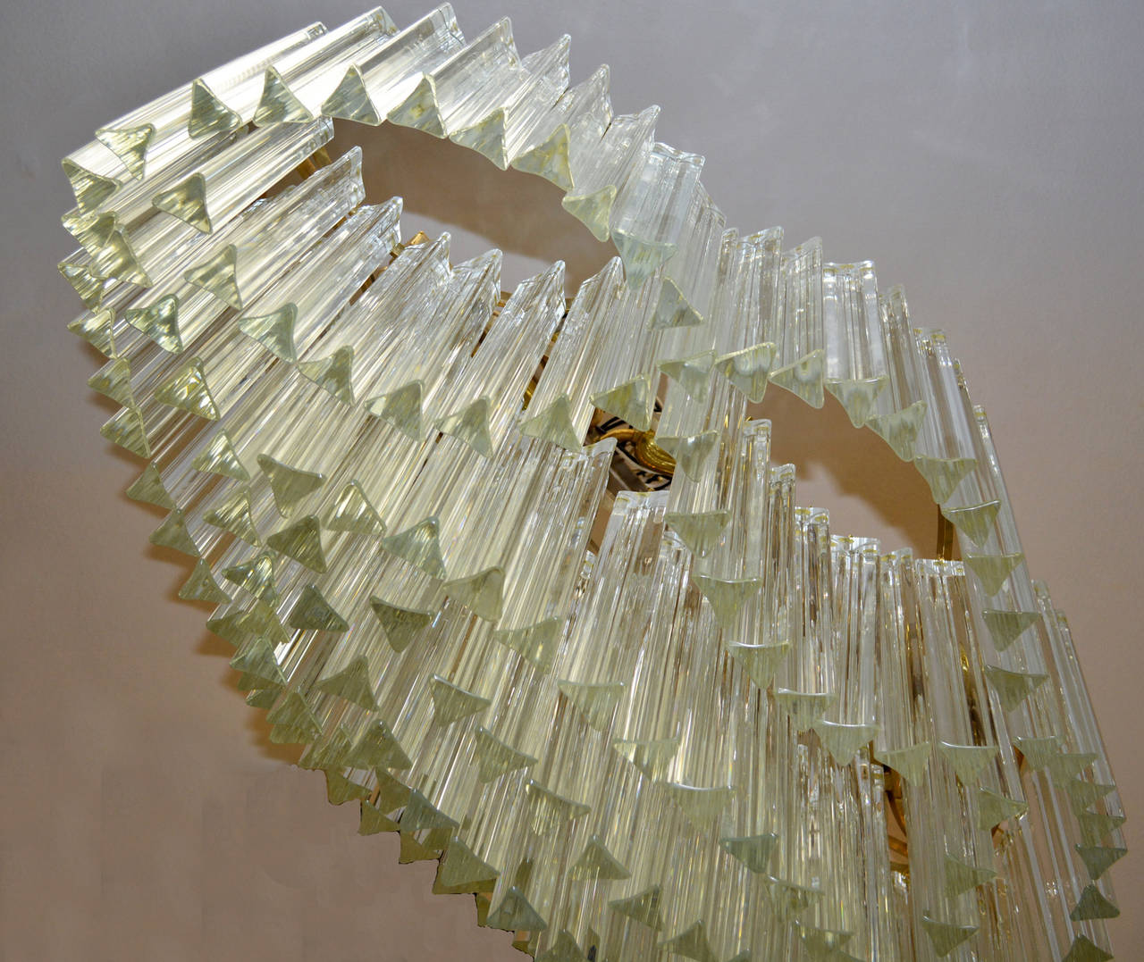Sculptural Mid-Century Murano Crystal Chandelier by Camer For Sale 1