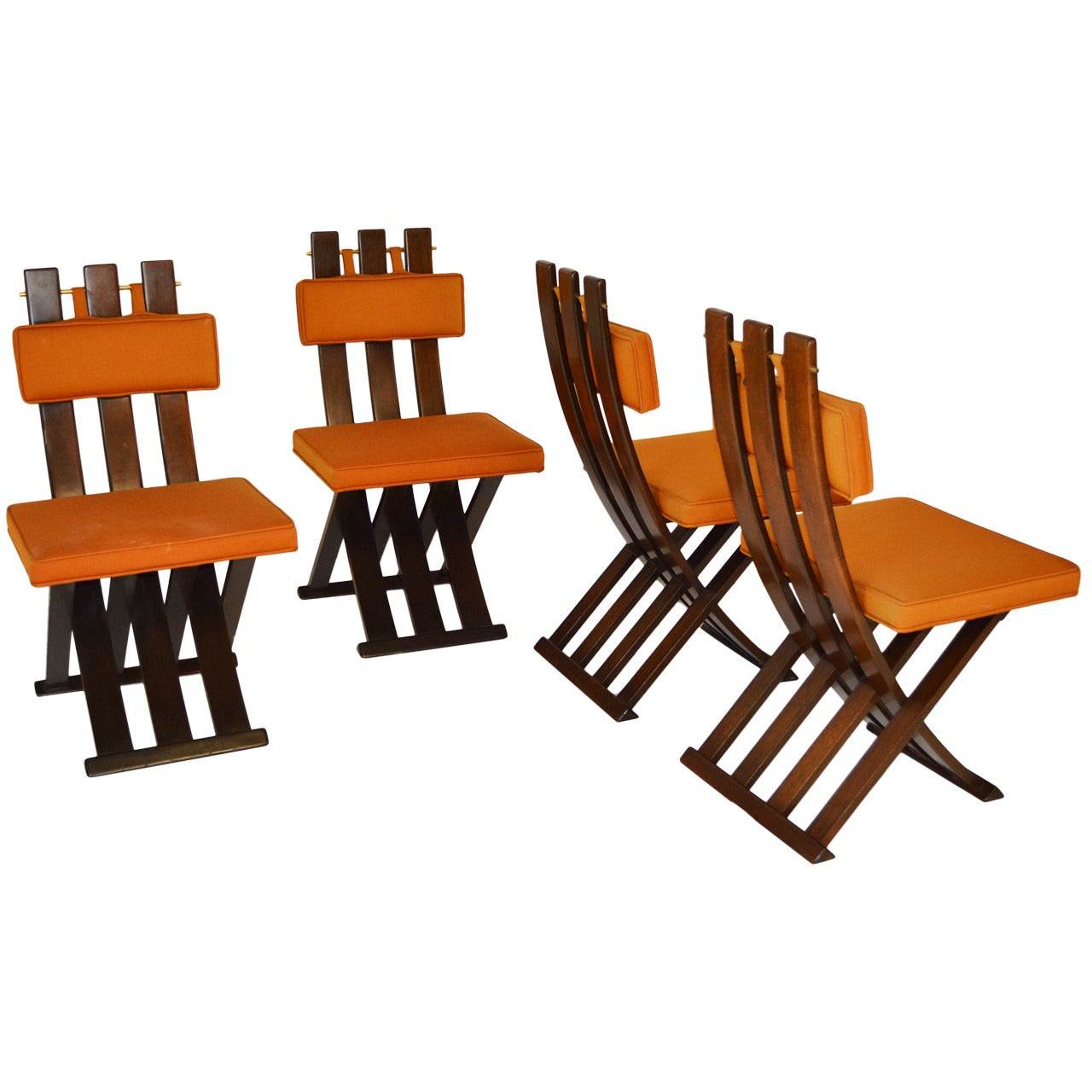 """Set of Four Harvey Probber """"X"""" Dining Chairs"""