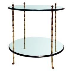 Jansen Faux Bamboo Side Table