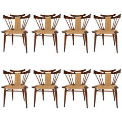 Set of Eight Edmund J. Spence Dining Chairs