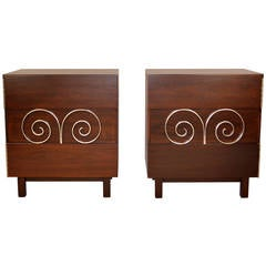 Pair of Edmond J. Spence Side Cabinets