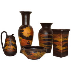 "Collection of Royal Haeger ""Earth Wrap"" Pottery"