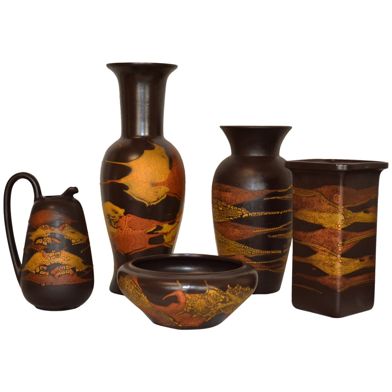 """Collection of Royal Haeger """"Earth Wrap"""" Pottery"""