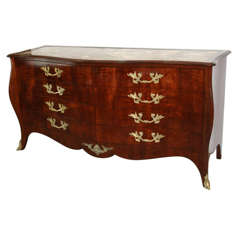 Hollywood Regency Louis XV Style Double Dresser