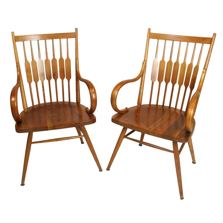 "Pair of Kipp Stewart for Drexel ""Centennial"" Arm Chairs"