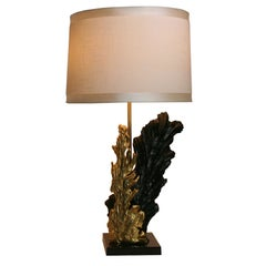 French Gilt & Resin Lamp