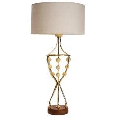 Sculptural Mid-Century Lamp