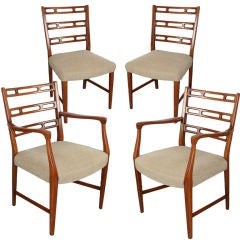 Four Sculptural Dining Chairs