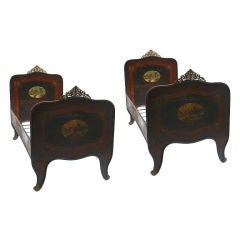 Pair  of Italian Tole Beds