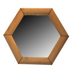 Hexagonal Mirror in the syle of Karl Springer
