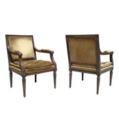 Pair of Louis XVI Style Fauteuil