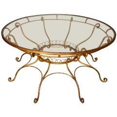 Italian Gilt Wrought Iron Table